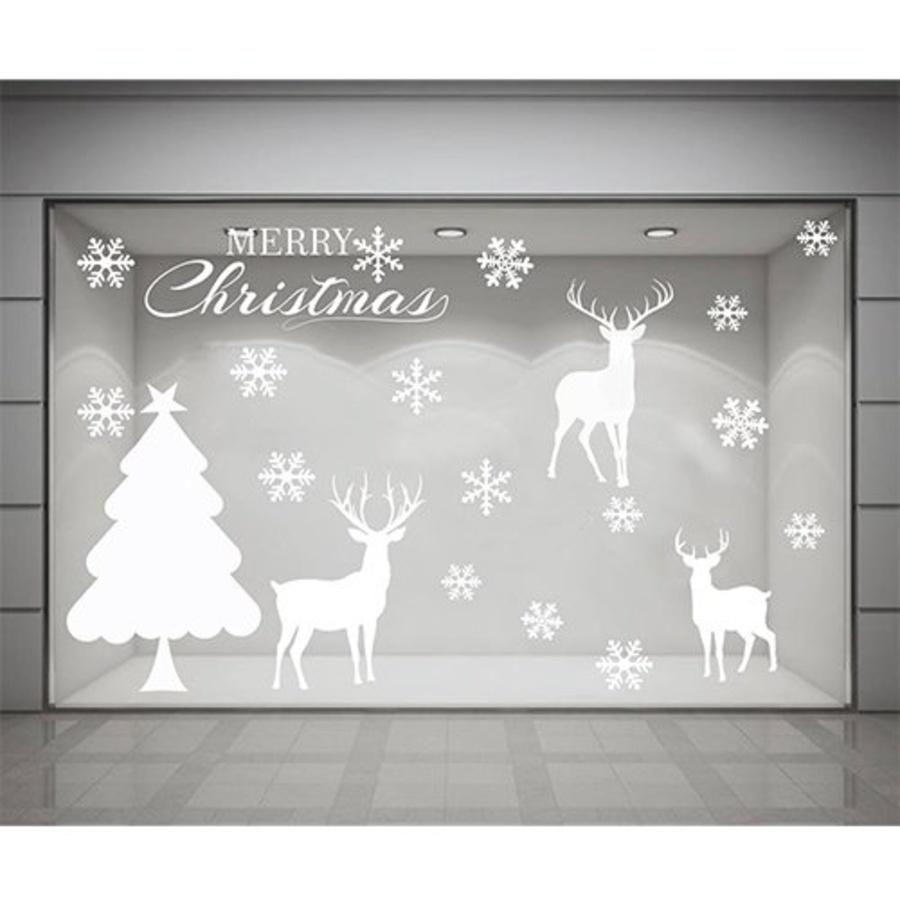 Cây thông Noel và tuần lộc size đại (nền trắng đục)