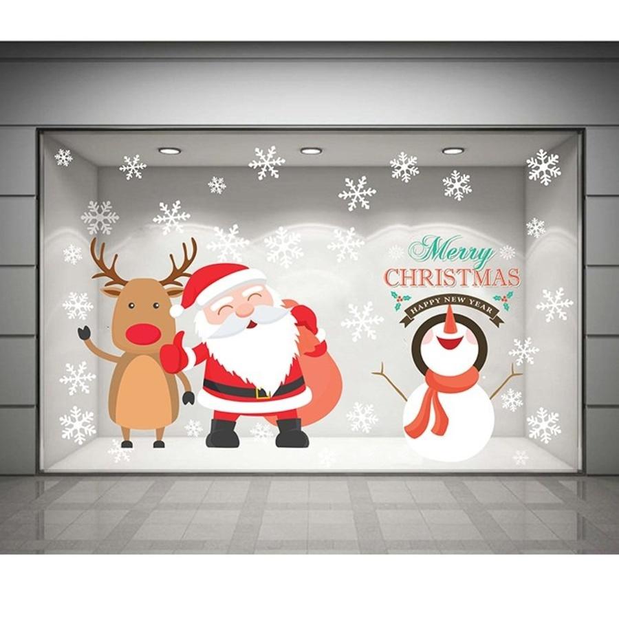Decal dán tường Ông già Noel hạnh phúc size 1,2m