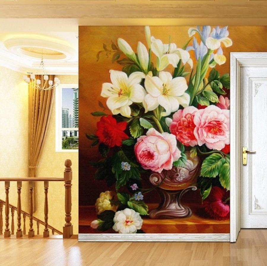 Tranh dán tường muôn sắc hoa 3