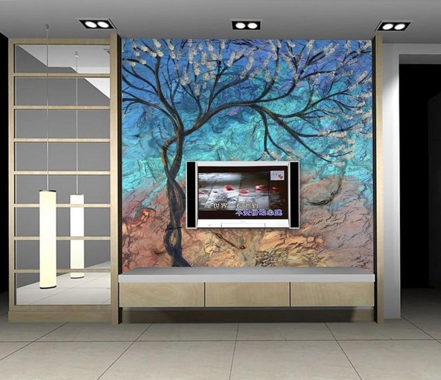 Tranh dán tường bức họa cây