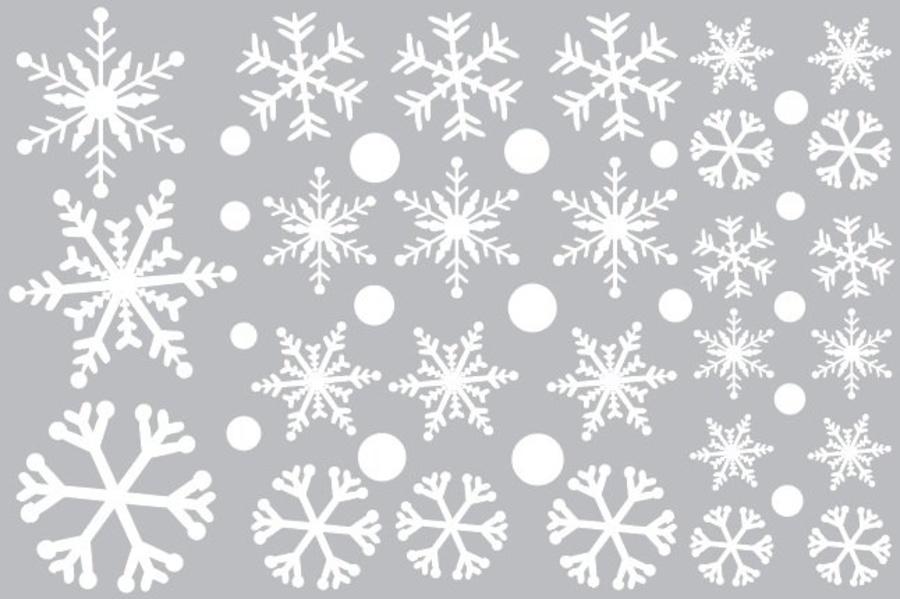 Decal trang trí Noel hoa tuyết 6 cánh