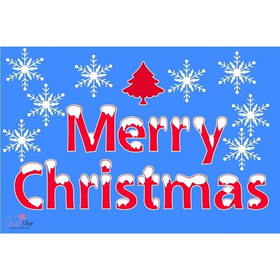 Decal Giáng sinh và cây thông đỏ 2