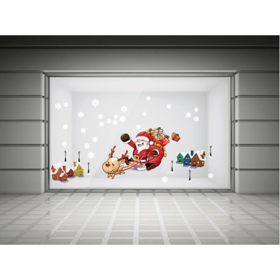 Decal dán tường ông già Noel và thành phố tuyết 2
