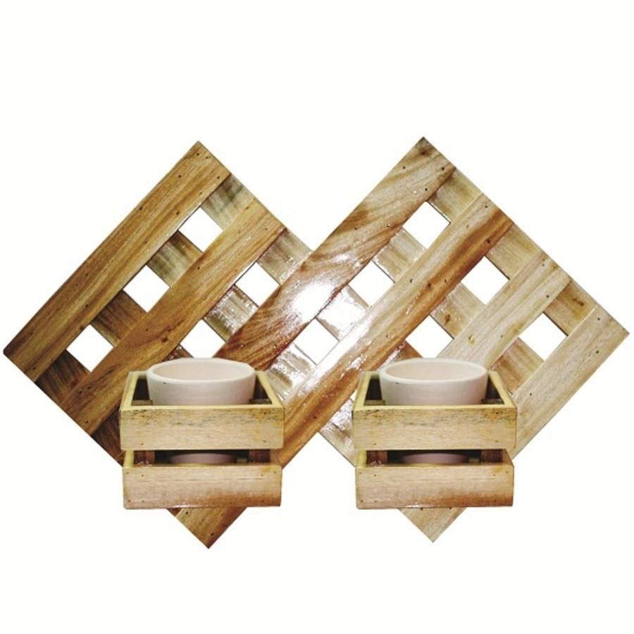 Combo khung đôi và chậu treo tường 30x45