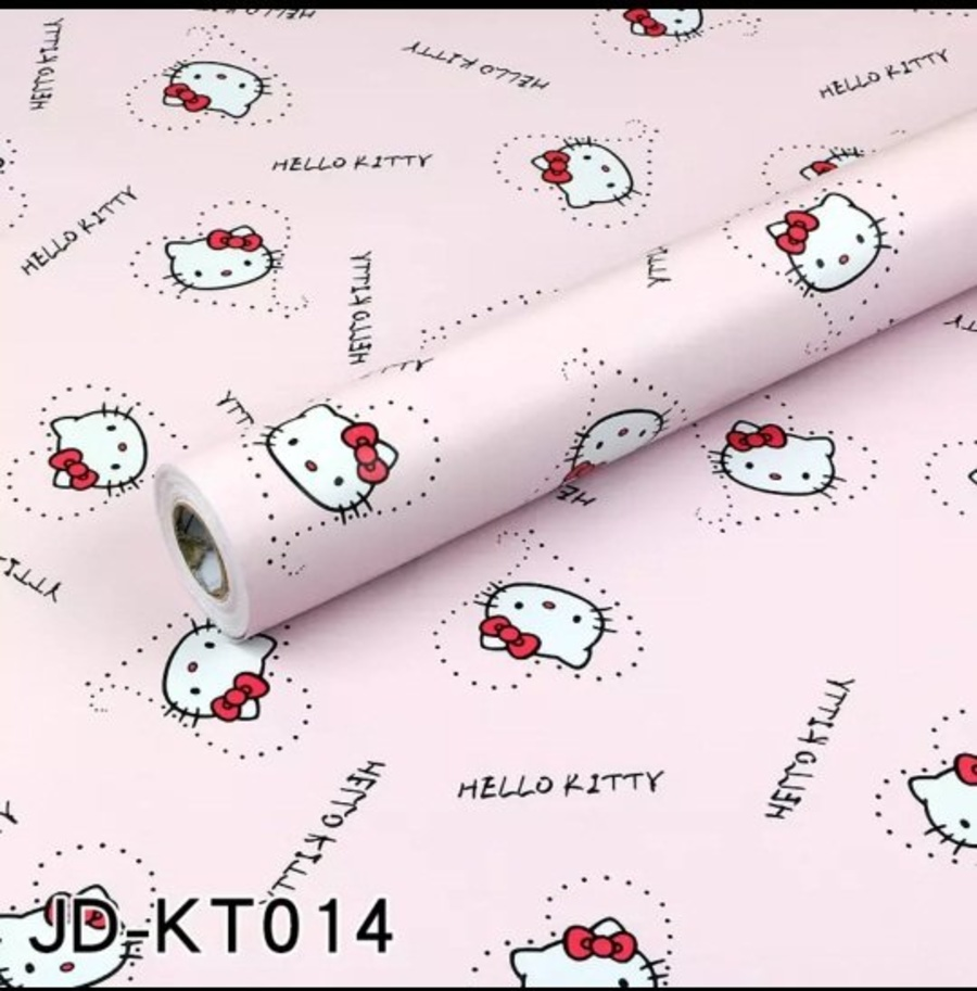 Giấy decal cuộn hello kitty hồng 2