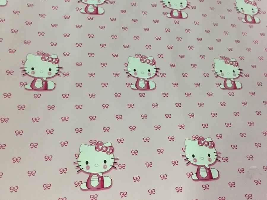 Giấy decal cuộn mèo Kitty hồng
