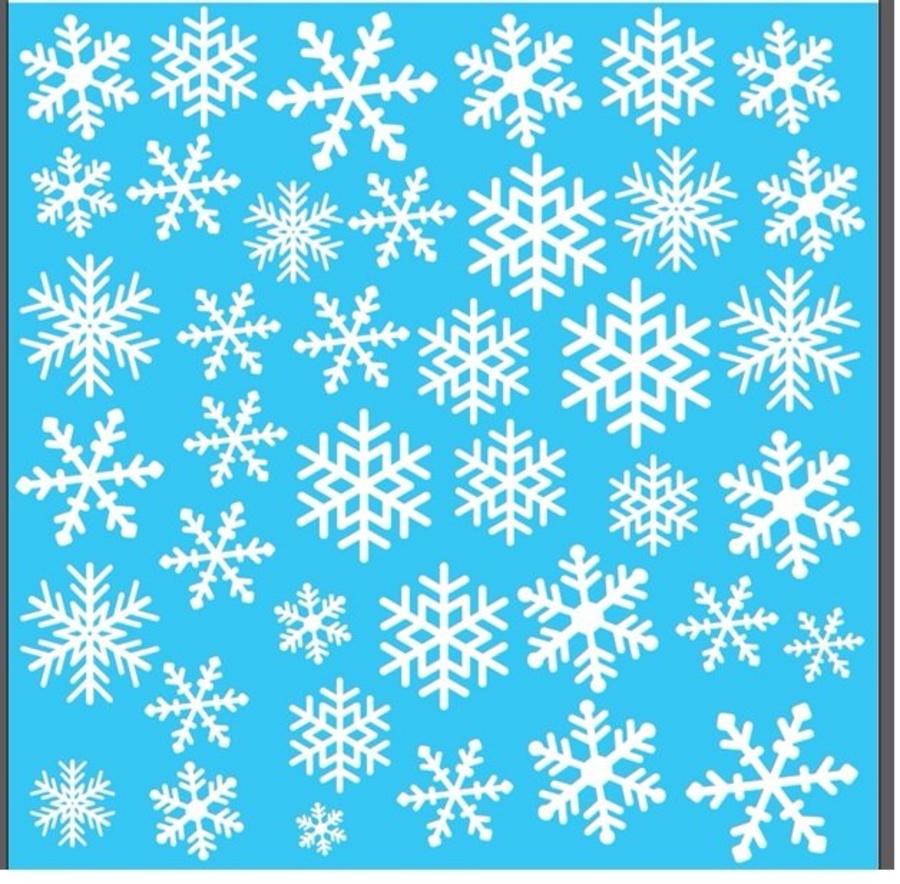 Decal trang trí Noel hoa tuyết 3