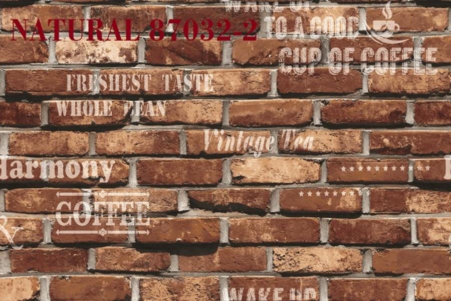 Giấy dán tường giả gạch đỏ NT 87032-2
