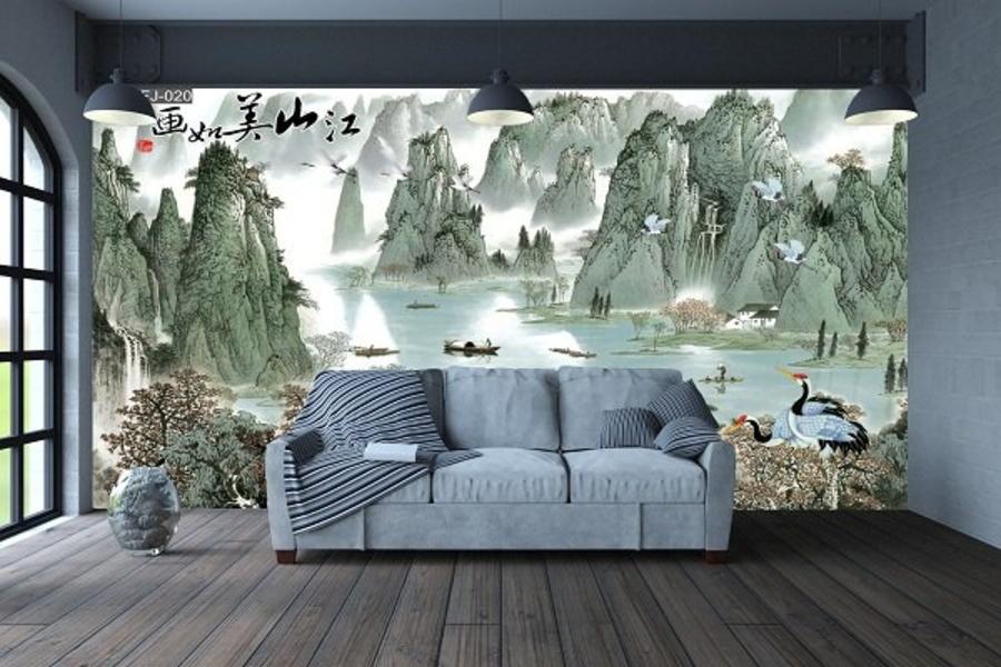 Tranh dán tường sơn thủy 3