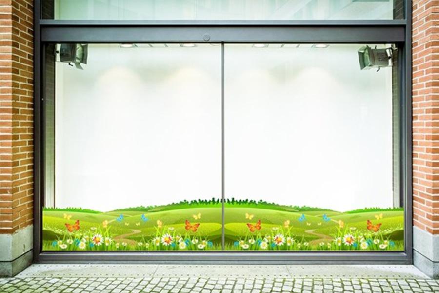 Decal dán chân tường hoa cỏ mùa xuân 4