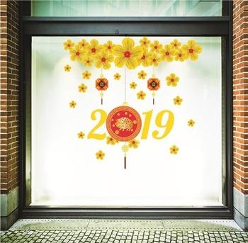 Decal Trang Trí Tết Mai Vàng Tài Lộc 2019 Size To