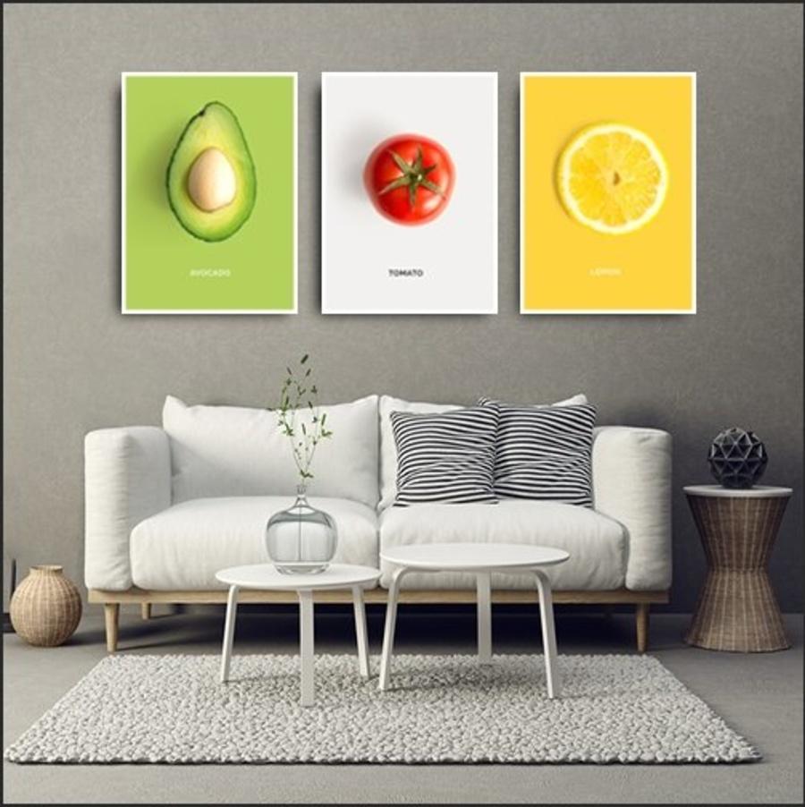 Tranh treo tường trái cây nghệ thuật