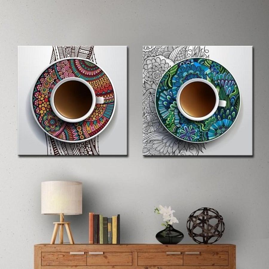 Tranh treo tường tách cà phê (HG)