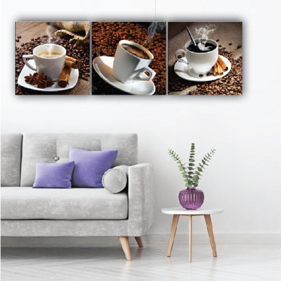 Tranh treo tường ba tách coffee
