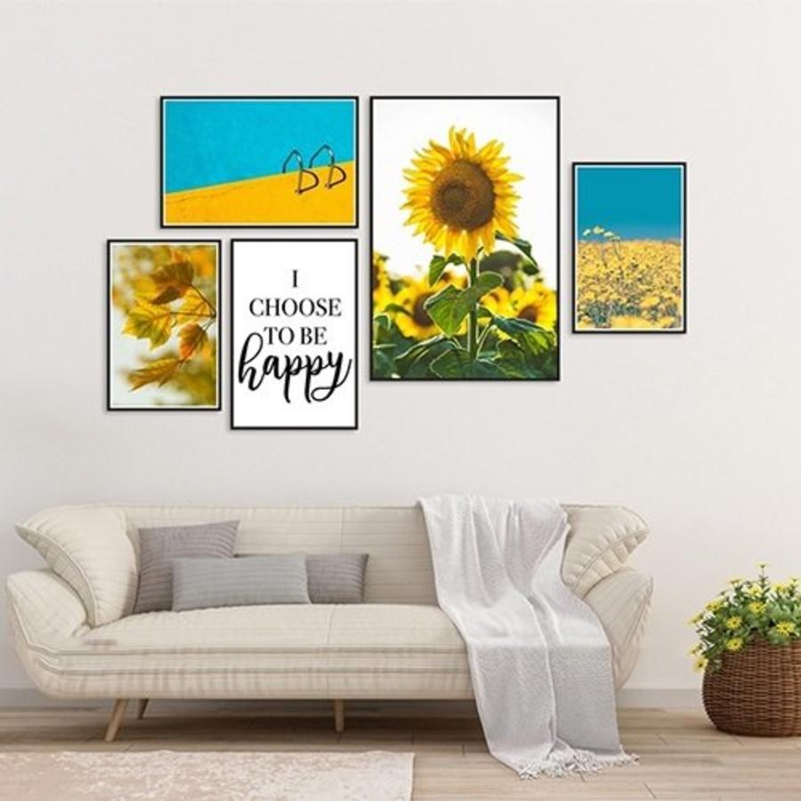 Bộ tranh treo tường hoa hướng dương đón nắng (HG)