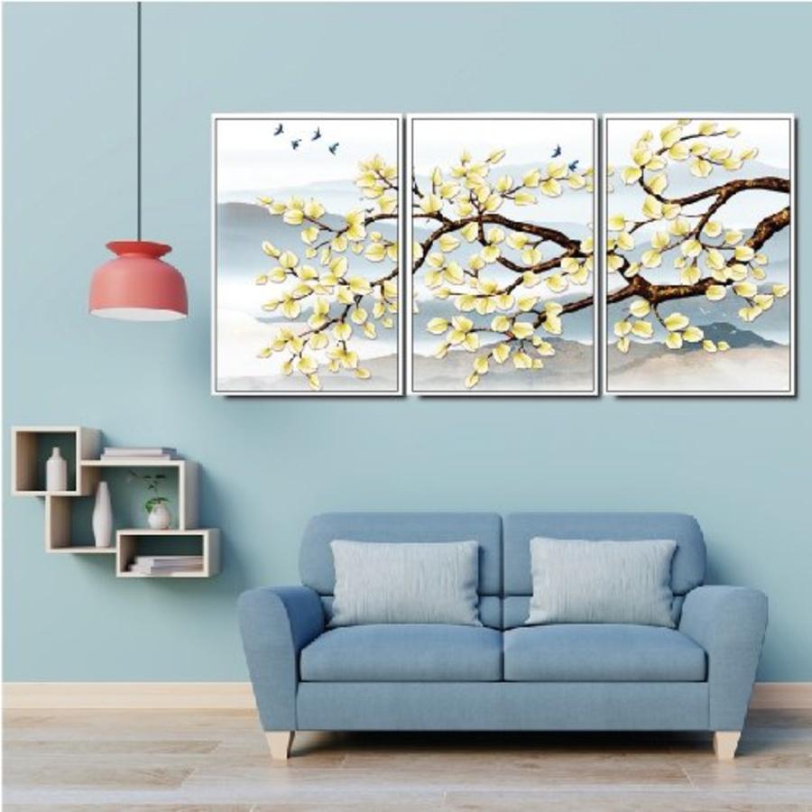Tranh treo tường cành cây lá vàng A-045