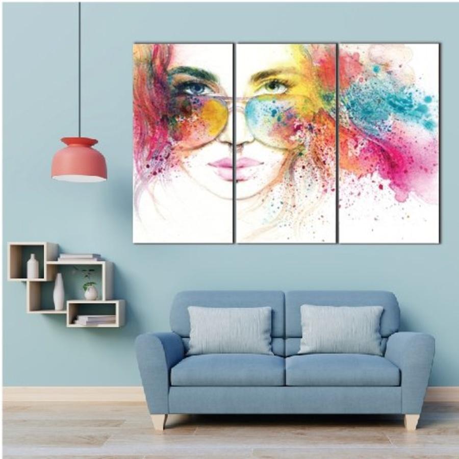 Tranh treo tường cô gái nghệ thuật 3