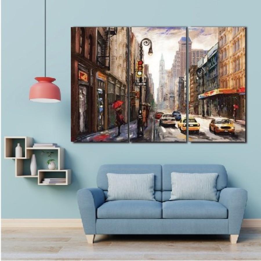 Tranh treo tường đường phố châu âu nghệ thuật