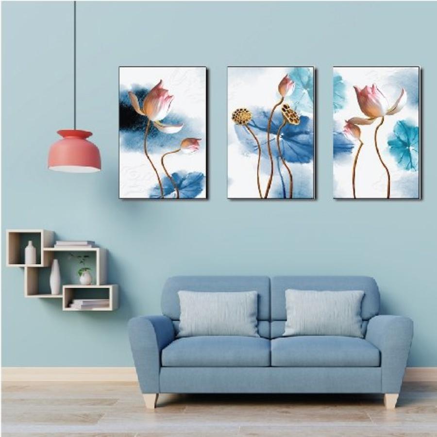Tranh treo tường hoa sen nghệ thuật