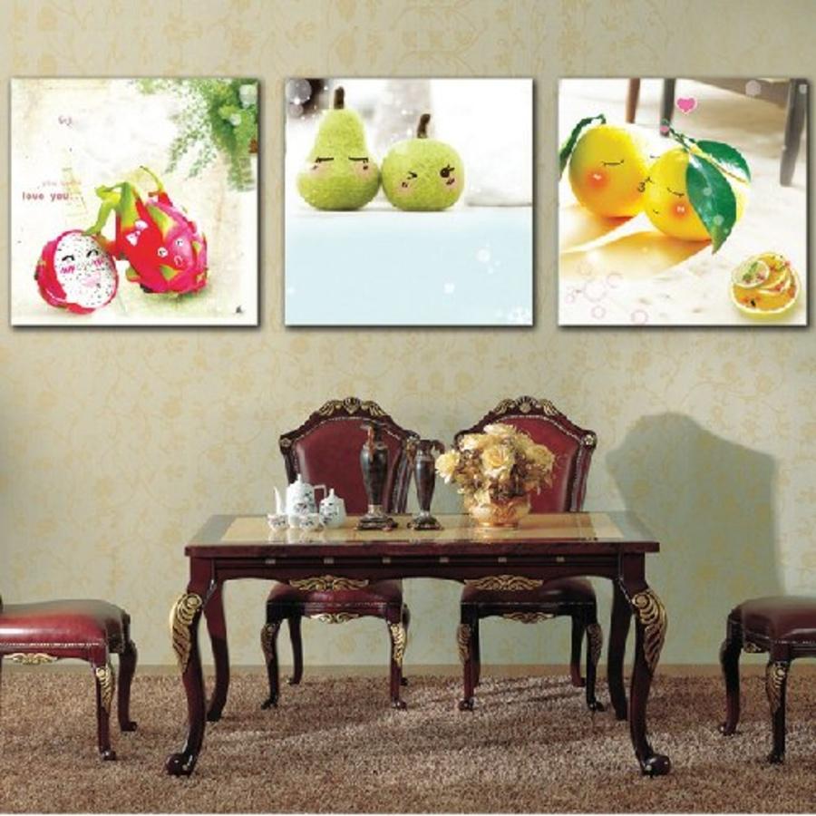 Tranh treo tường trái cây dễ thương