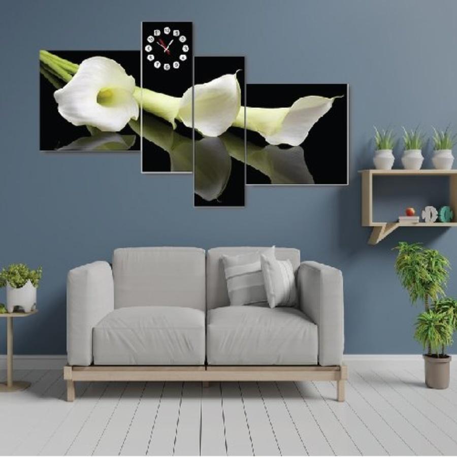 Tranh đồng hoa loa kèn trắng cách điệu