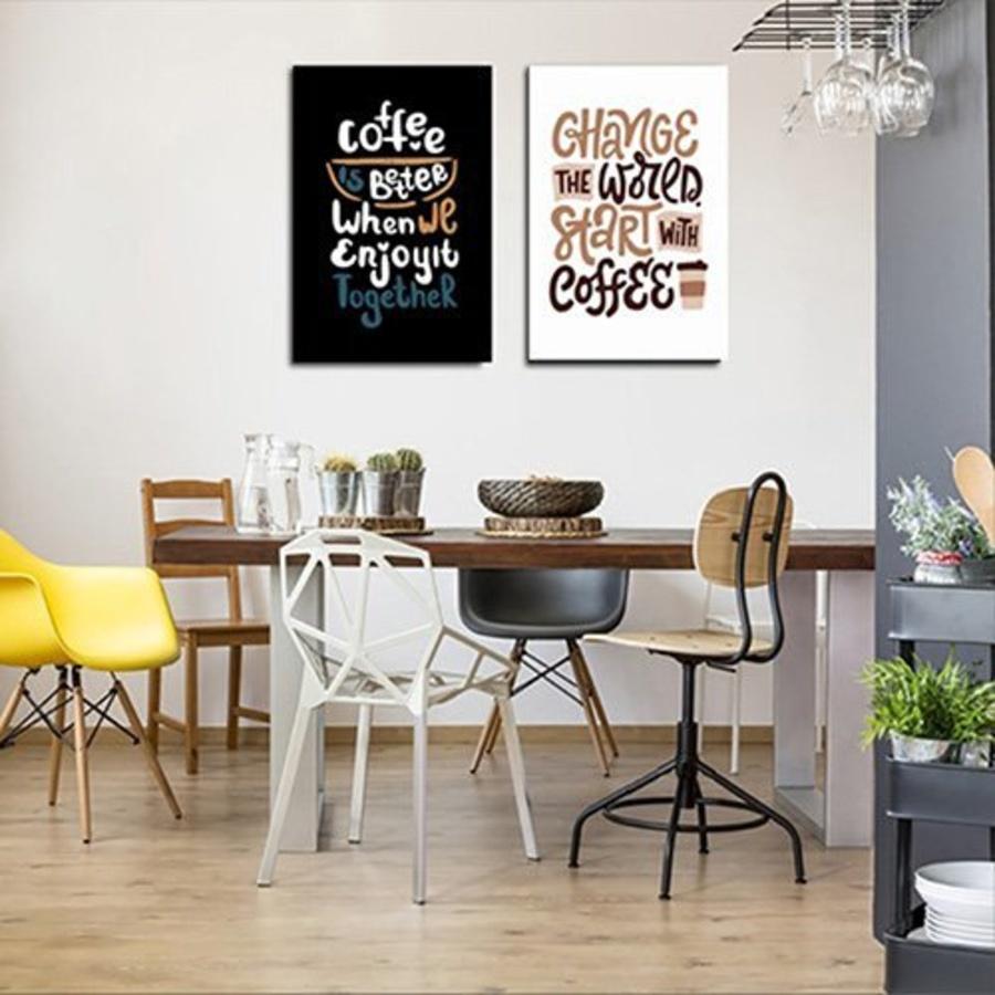 Tranh slogan văn phòng coffee is better