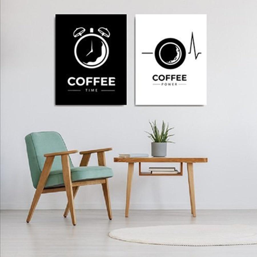 Tranh Treo Tường Coffee Time And Coffee Power