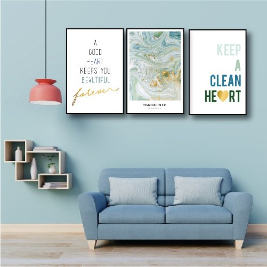 Tranh treo tường keep a clean heart