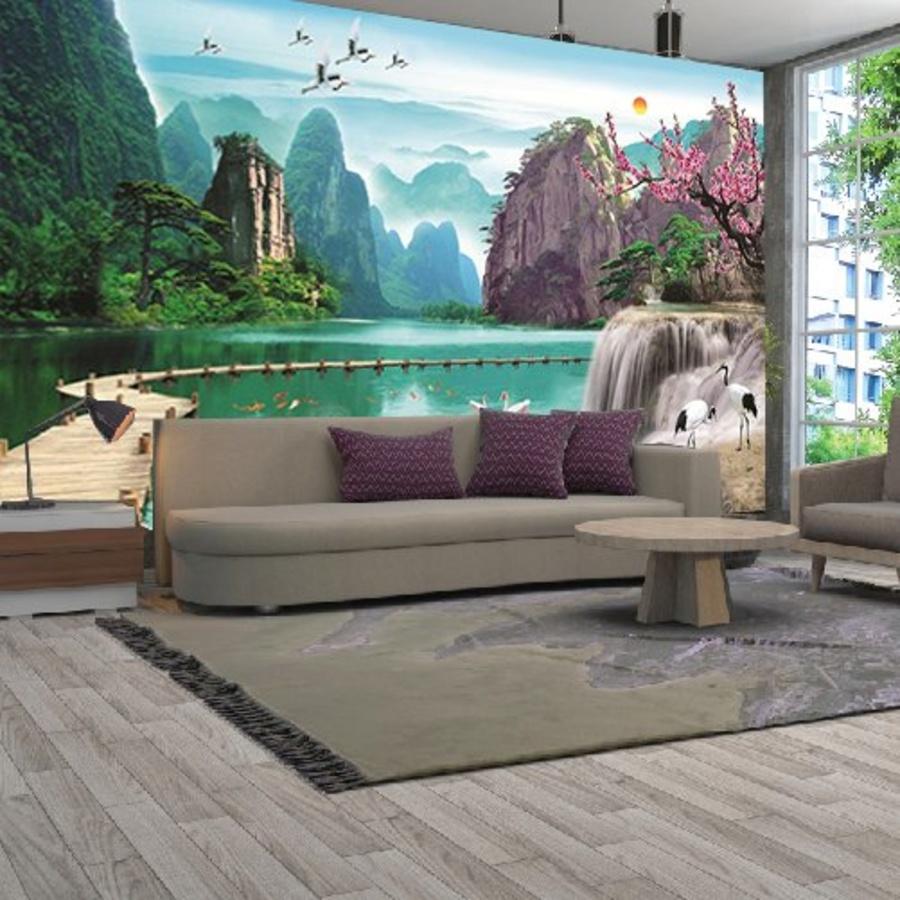Tranh Dán Tường Thiên Nhiên Sông Nước - Mẫu 17