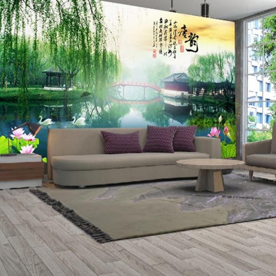 Tranh Sơn Thủy Thiên Nhiên Sông Nước - Mẫu 2