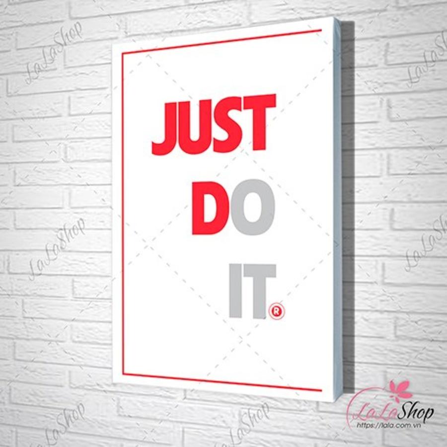 Tranh slogan treo văn phòng just do it