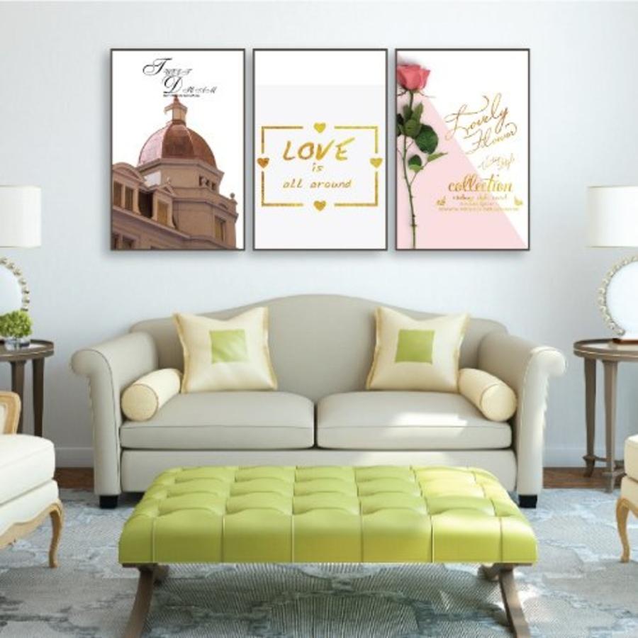 Tranh treo tường hoa hồng tình yêu (KE-065)