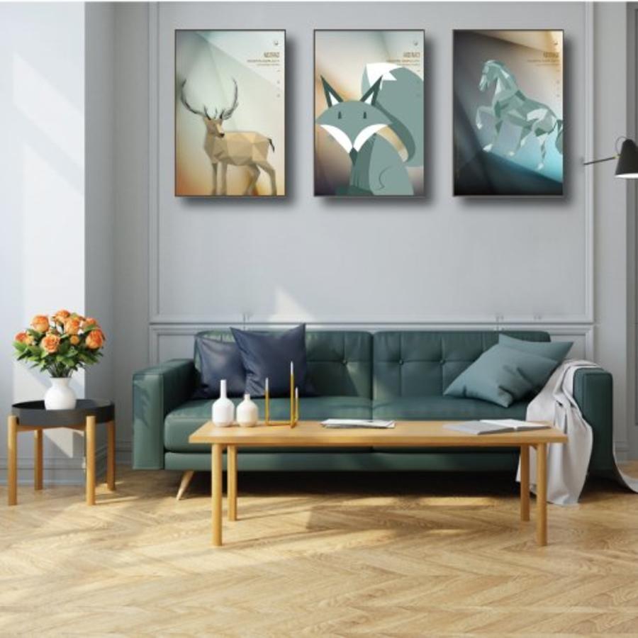 Tranh treo tường nghệt thuật trừu tượng cáo xám