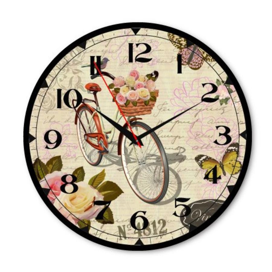 Đồng hồ vintage giỏ xe đạp hoa