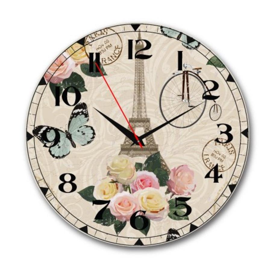 Đồng hồ vintage tháp và hoa