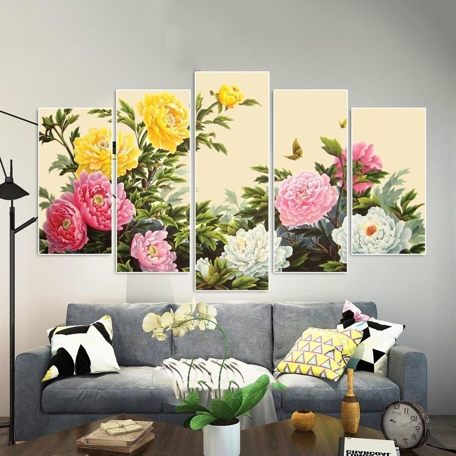 Tranh treo tường hoa mẫu đơn cách điệu (HG)