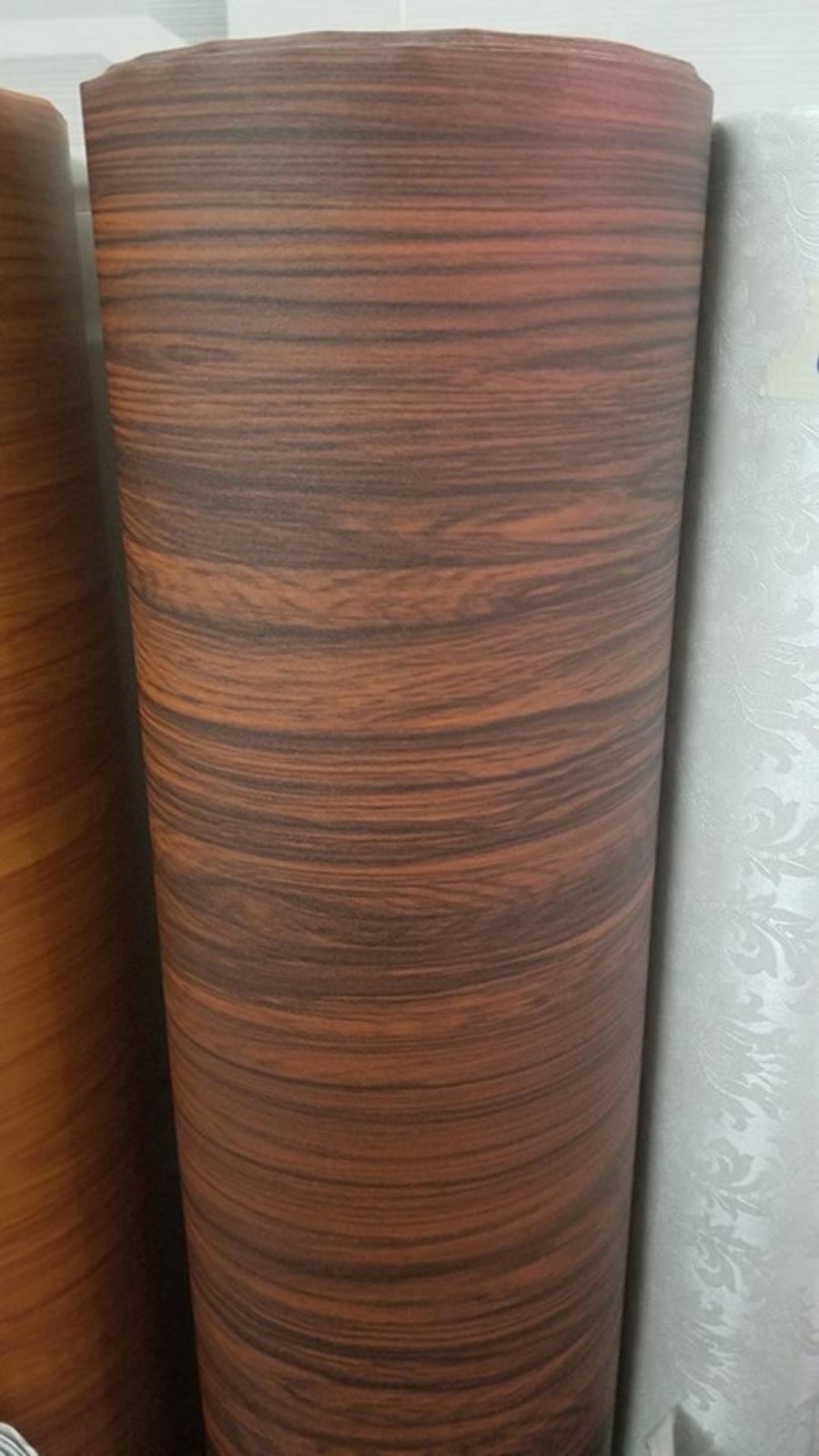 Giấy Decal cuộn giả vân gỗ nâu 2