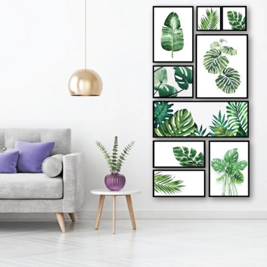 Bộ tranh treo tường lá xanh