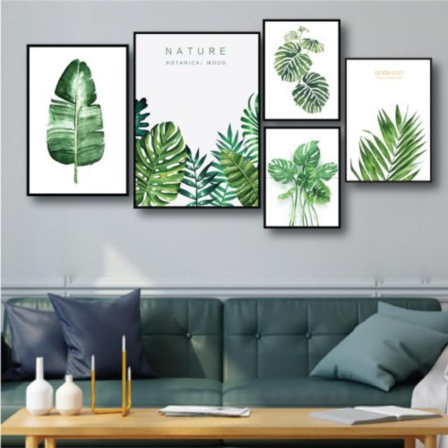 Tranh treo tường lá xanh nhiệt đới 4