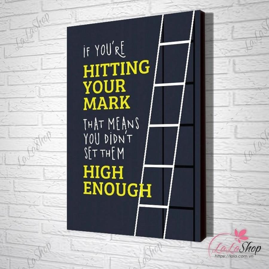 Tranh treo tường hitting your mark 2