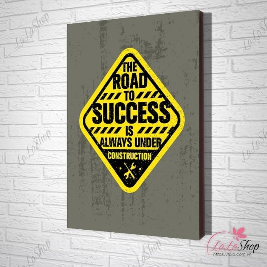 Tranh văn phòng The road to success