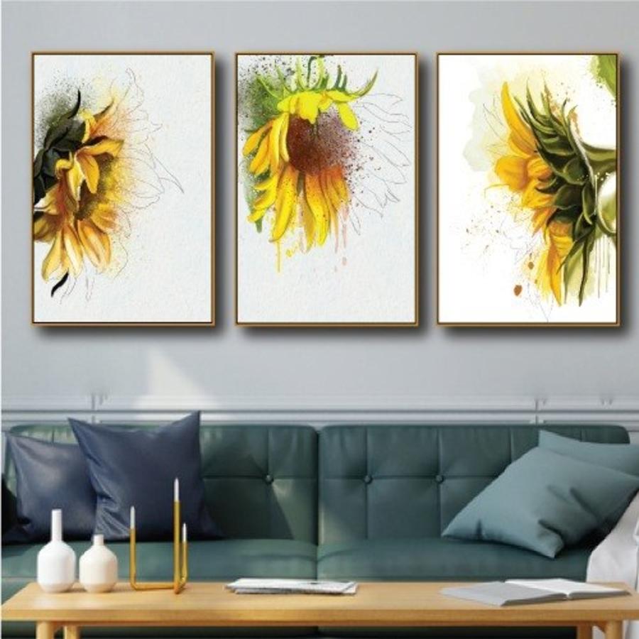 Tranh treo tường hoa hướng dương nghệ thuật