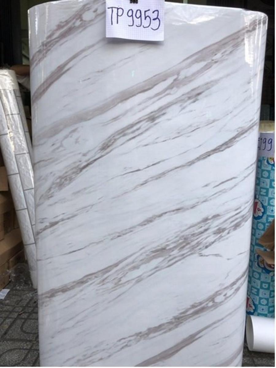 Giấy decal cuộn giả đá vân trắng 3 khổ 1m2