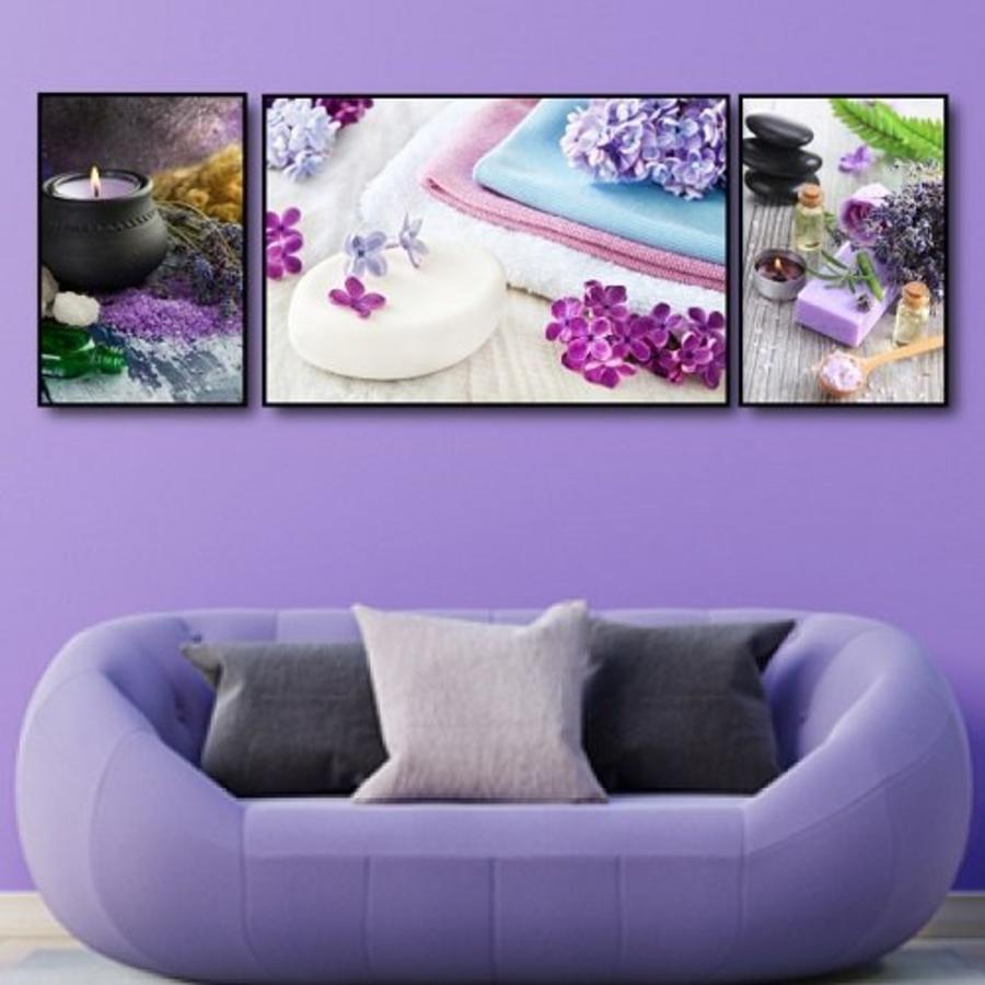 Tranh treo tường spa hoa tím