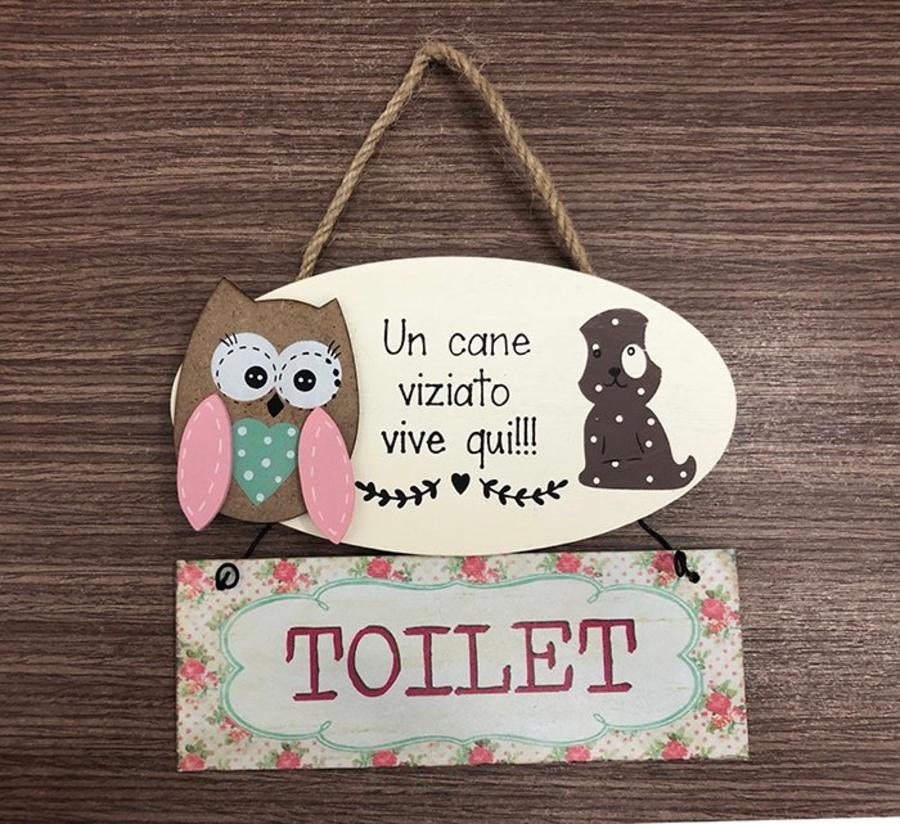 Bảng treo cú mèo toilet 3