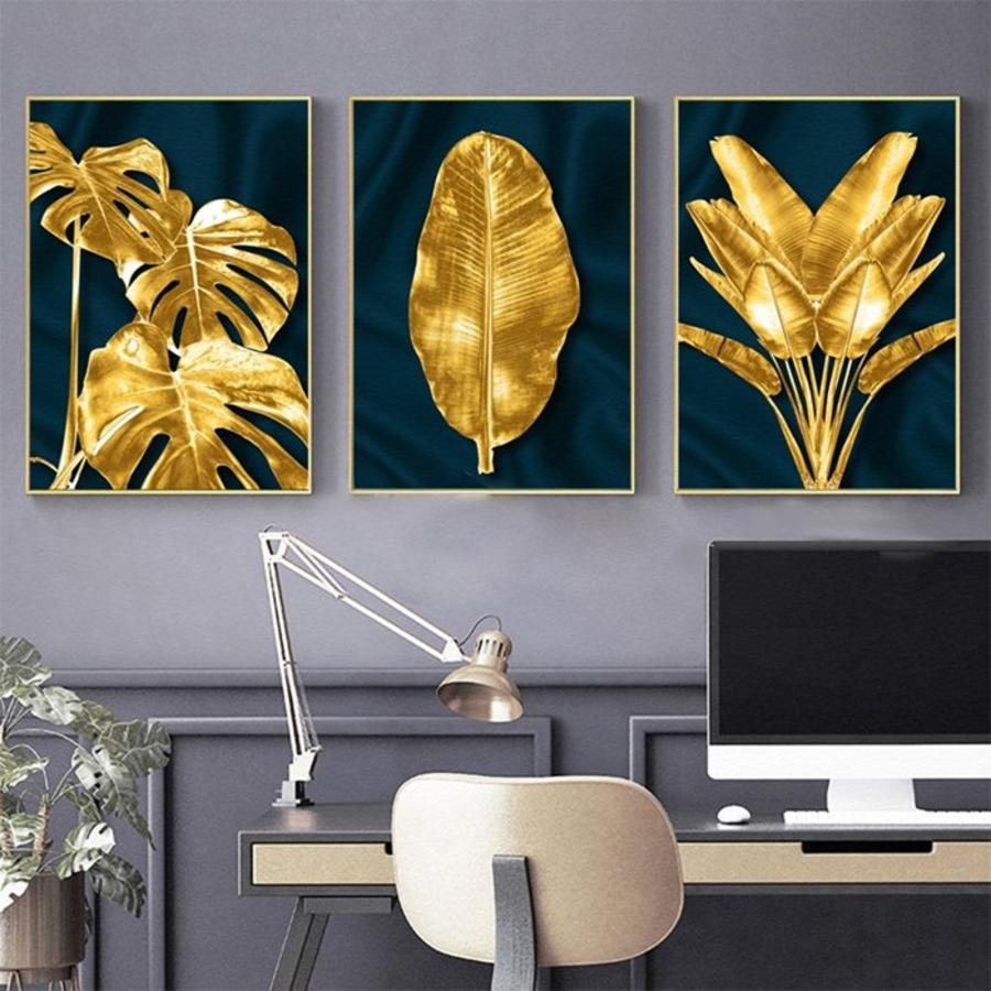 Tranh treo tường lá dát vàng sang trọng (HG)