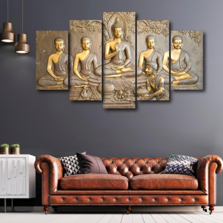 Bộ tranh treo tường 3d Đức Phật và các đệ tử