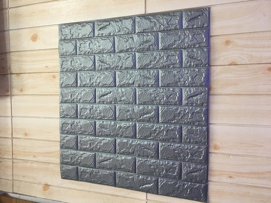 Xốp đá dán tường màu xám giá rẻ