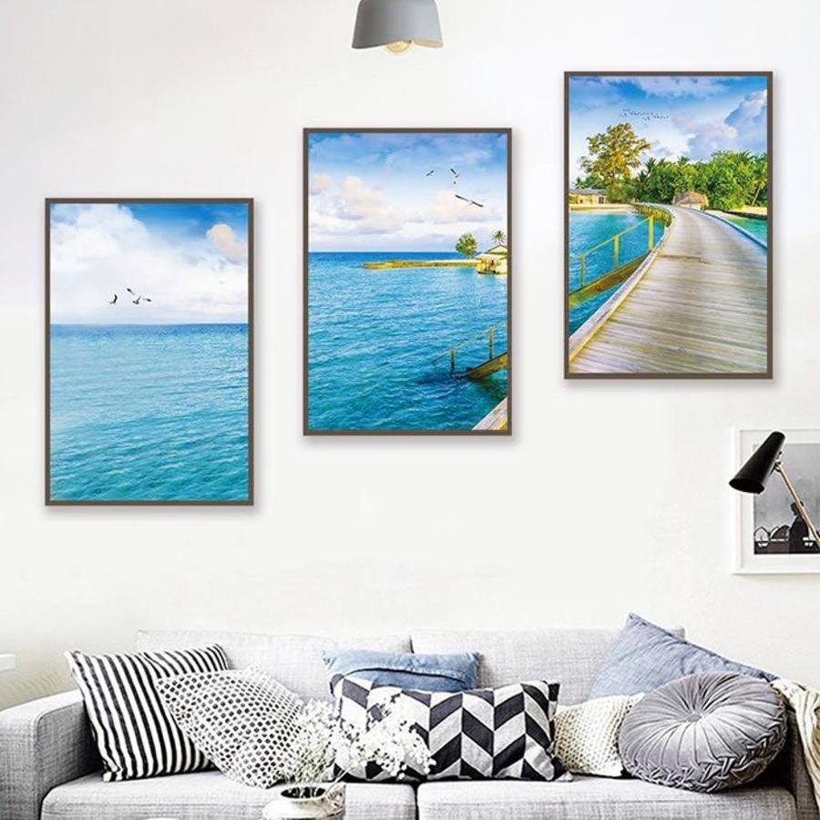Tranh treo tường phong cảnh biển vùng trời bình yên (EU-10710)