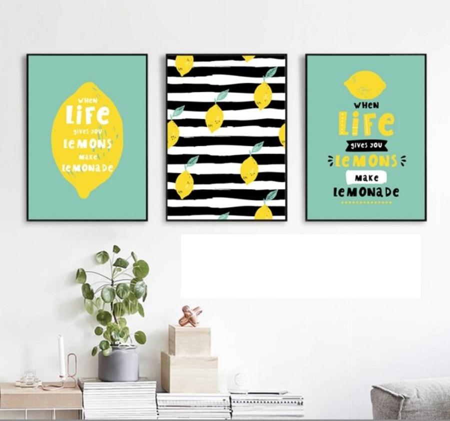 Tranh Treo Tường when life gives you lemons make lemonade